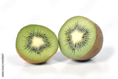 kiwi fruit  isolated on white  healthy nutrition concept