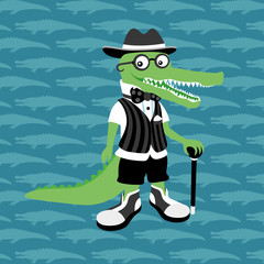 Vector illustration. Crocodile.