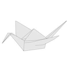 cartoon image of origami animal