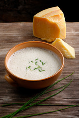 Potato and cheese cream soup