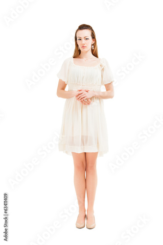 Full length portrait of a confident young female