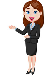 Smiling business woman presenting © tigatelu