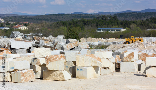 Stone Blocks in a Marble Quarry
