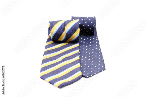 Two rolled ties