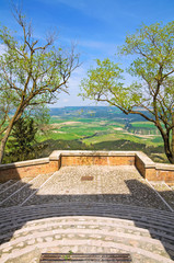 Panoramic view of Montescaglioso. Basilicata. Italy.