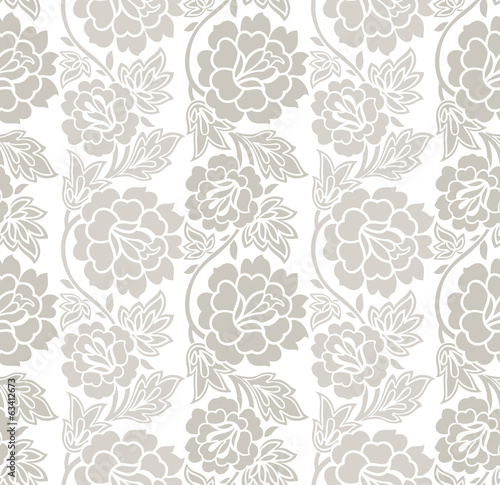 Floral seamless vector wallpaper