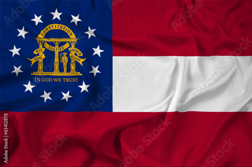 Waving Georgia State Flag