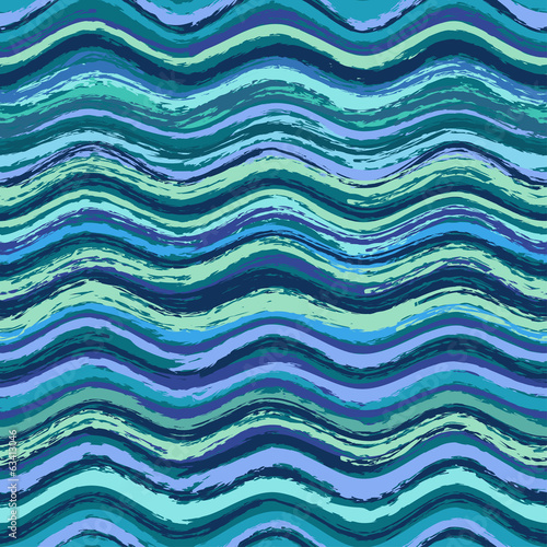 Abstract wavy seamless pattern