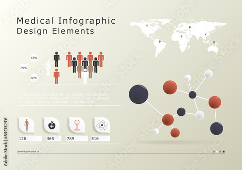 Medical infographic elements