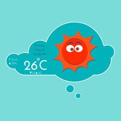 Weather widget template