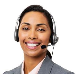 Customer Service Representative Wearing Headset