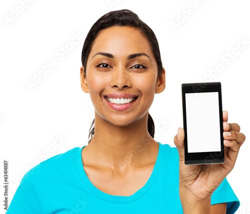 Confident Woman Showing Smart Phone