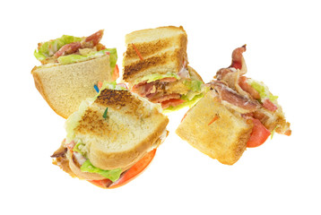 BLT On White Background Side View