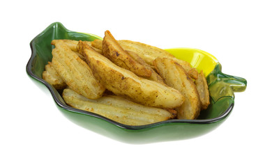 Potato Wedges Cooked In Dish
