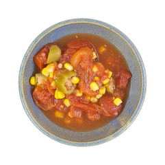 Tomatoes Okra And Corn In Bowl