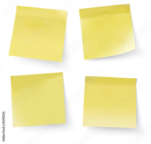 vector post it notes