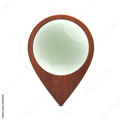 Wooden pointer with glass