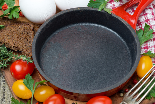 concept photo - ingredients for cooking fried eggs