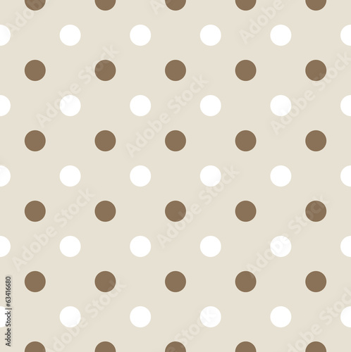 Seamless retro pattern with dots