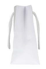 Blank shopping bag. White paper bag