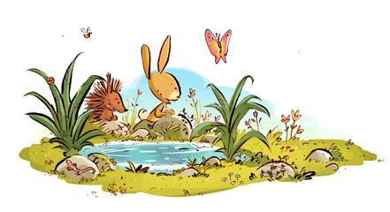 conejo en la naturaleza