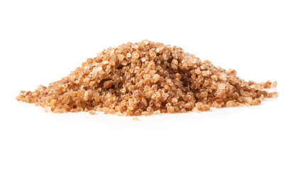 Brown sugar hill isolated on white background