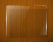 Wooden texture with glass framework. Vector eps10