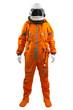 Leinwandbild Motiv Astronaut isolated on a white background. Cosmonaut wearing spac