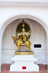 Buddha stand on Brahma ride ox