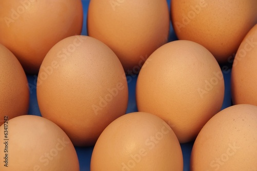 Ten Fresh Organic Eggs background, XXXL close up.