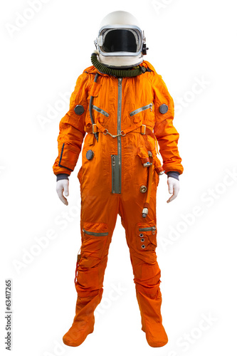 Astronaut isolated on a white background. Cosmonaut wearing spac - 63417265