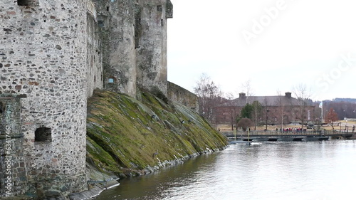 Turists in front of St. Olaf's castle, Savonlinna