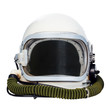 Space helmet isolated on a white background.