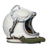 Space helmet isolated against a white background.