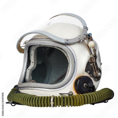 Foto op Plexiglas Nasa Astronaut's space helmet isolated on a white background.