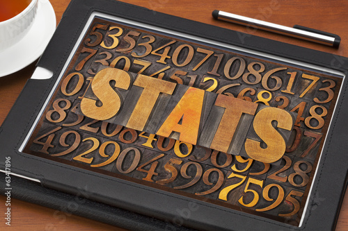 stats (statistics) word  and numbers