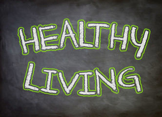 Healthy Living chalkboard