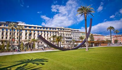 Central Square in Nice, France .