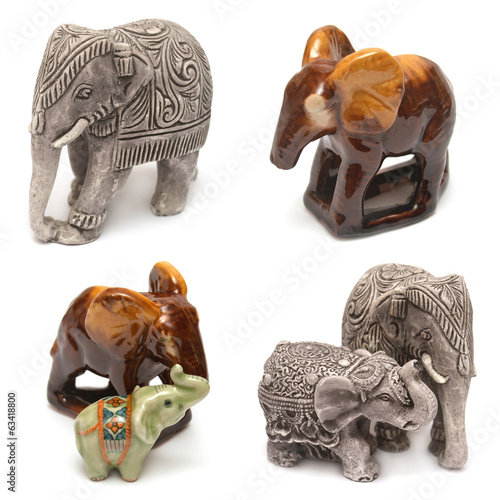 Collection of figurines elephant