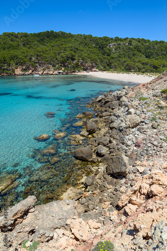 Platja des Bot beach at Algaiarens cove, Menorca