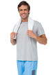 Portrait of a fit young man with towel