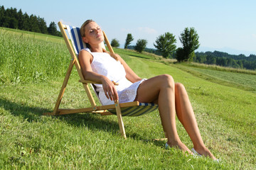 Frau am entspannen