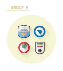 Group f with country crests