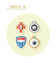 Group g with country crests