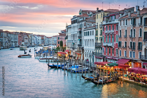 Venice, sunset from the rialto bridge