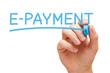 E-payment Blue Marker