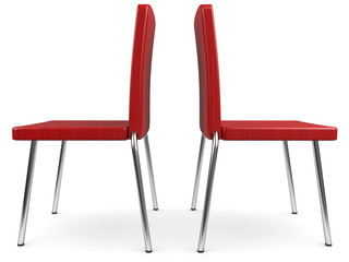 zwei Stühle zwei Ansichten