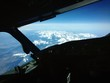 Beautiful cockpit photo over the Alps