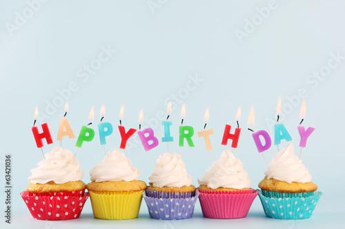 Poster birthday cupcake