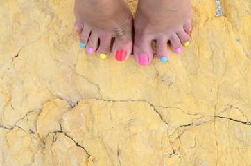 Colored toenails